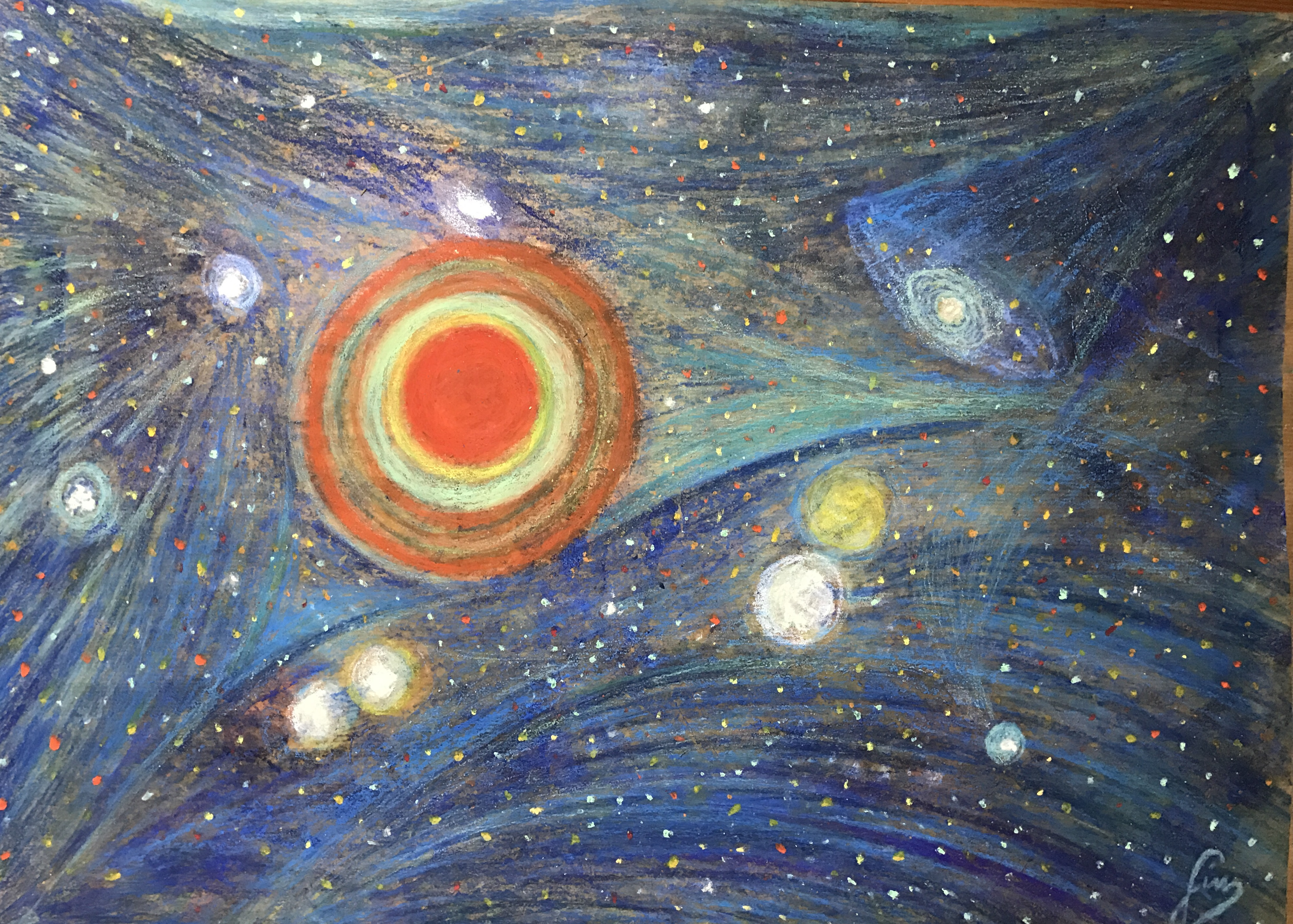 Higg's Boson in Fronteversismo and Peace. Author of the paiting and of the animation: Giuseppe Sinicalchi, 2018