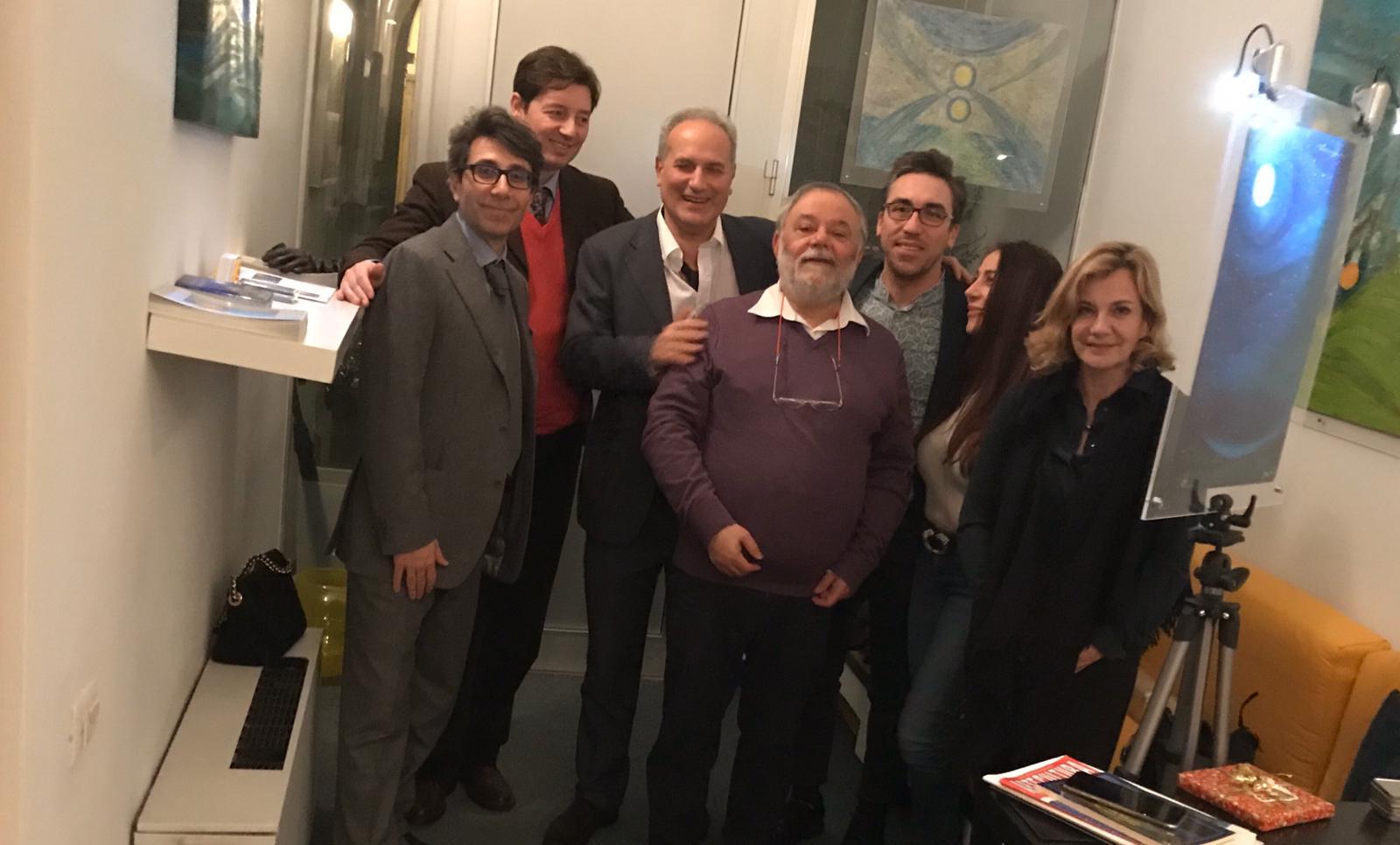 Da sx Gabriele Guglielmino Marco Marinacci Giuseppe Siniscalchi Salvino Sagone Domenico Melillo Shahrzad Amirsadeghi Ilse Loesh