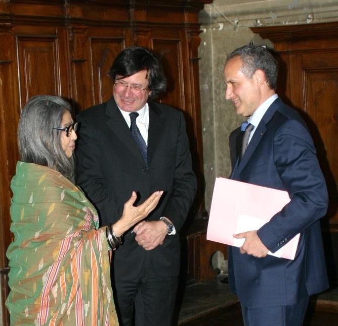 Da sinistra a destra: Tara Gandhi, Fiorenzo Galli e Giuseppe Siniscalchi (credits: Museoscienza)