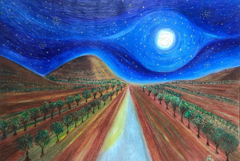 Pace tra gli ulivi , 2020 fronte . Autore Giuseppe Siniscalchi