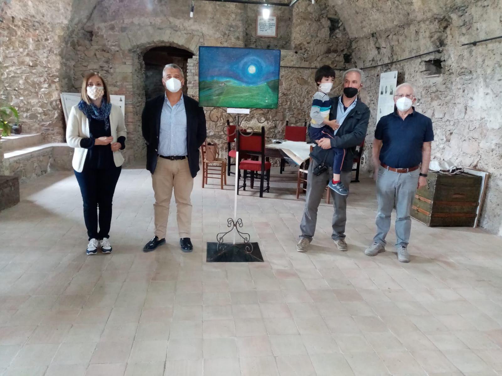 Da sx Piera Chierico , Gaetano Celano sindaco del Comune di Valsinni , Giuseppe Siniscalchi e Leonardo Siniscalchi, Vincenzo Rinaldi